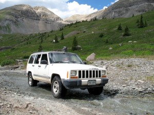 Camera mount on Jeep Cherokee