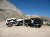 Two Jeeps posing at summit