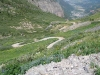 Looking down at switchbacks.