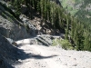 Heading down the switchbacks