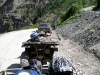 Parking at the Powert Station. This road is 2-way now, all the way into Telluride